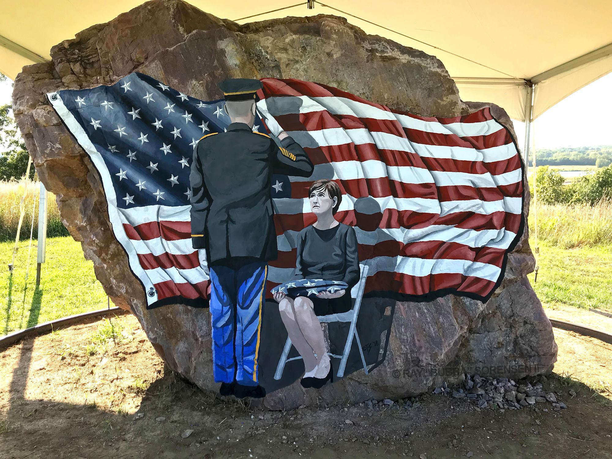 The Freedom Rock - Iowa Veterans Cemetery - BEECK Mineral Paints.jpg