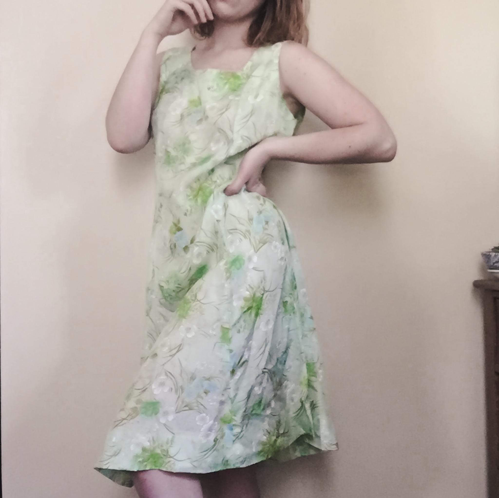 Vintage mint floral dress