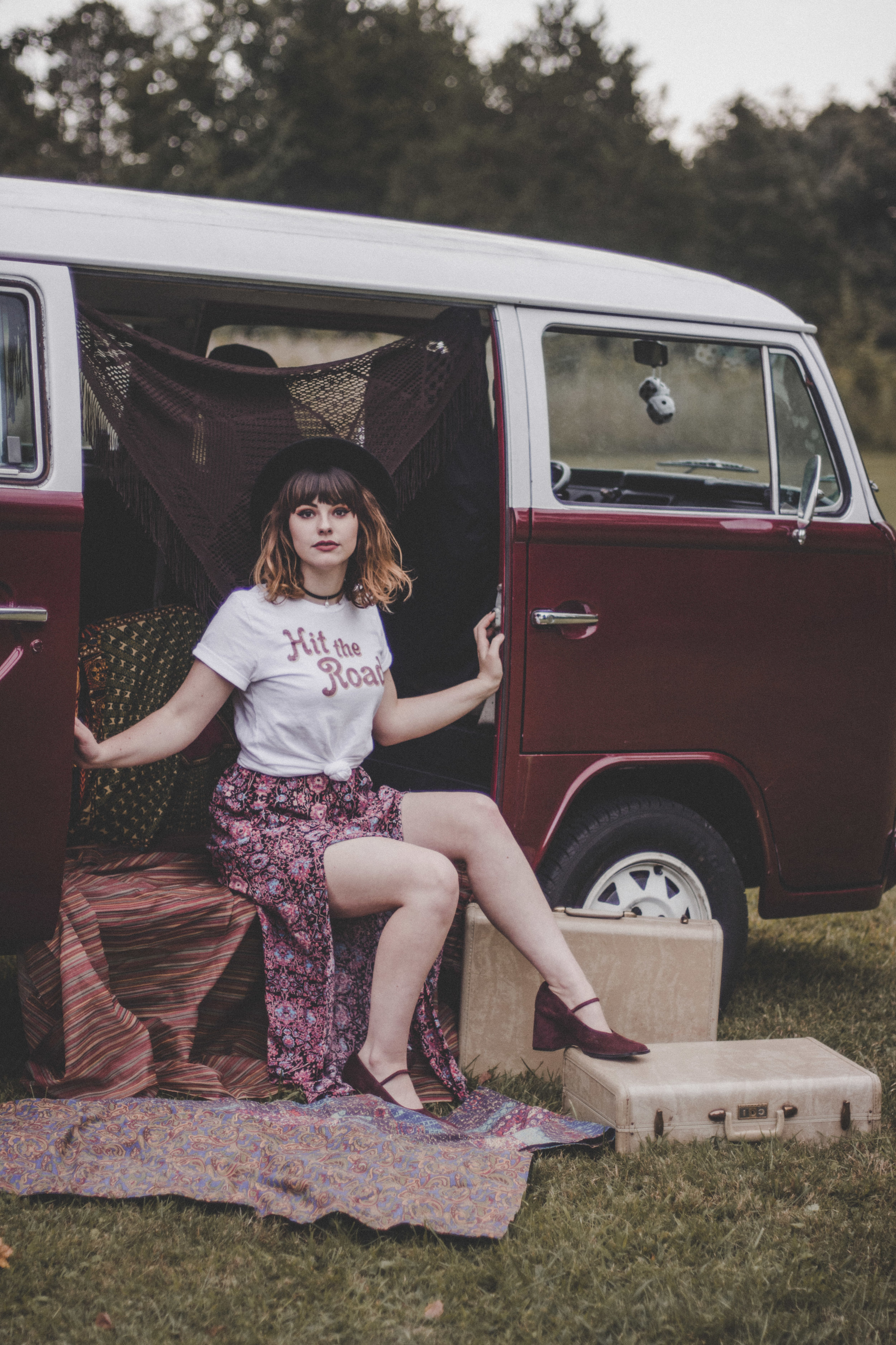 a girl and a bus. - We bought a bus. A '78 Volkswagen Transporter, to be exact. Vagabondary took a giant leap from online-only to a shop on wheels.