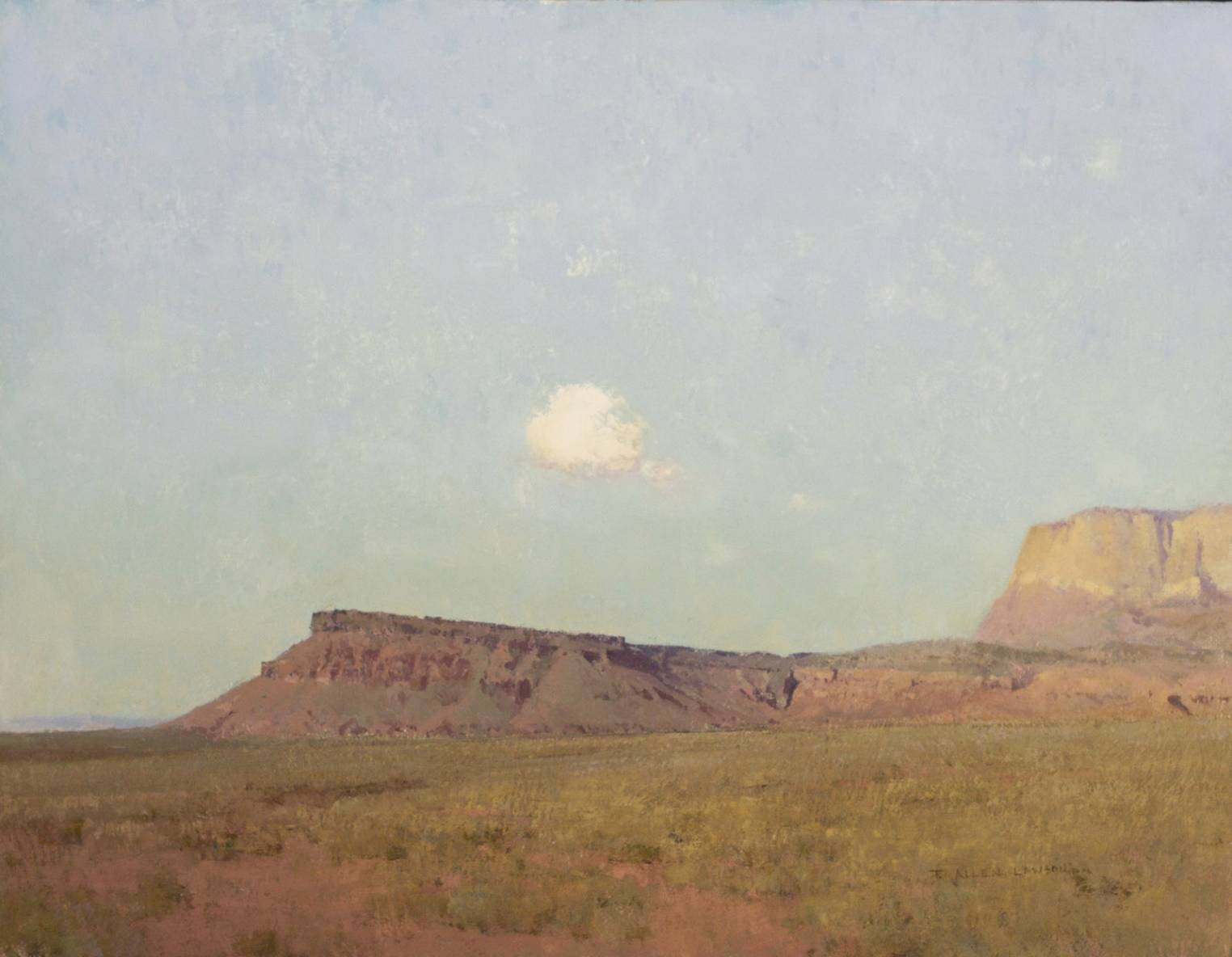 """Alone at High Noon"" oil on linen, 20 x 26 in., 2012"