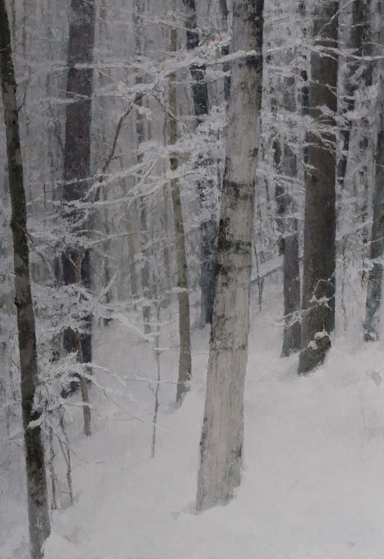 """Winter Interior"" oil on linen, 26 x 18 in., 2011"