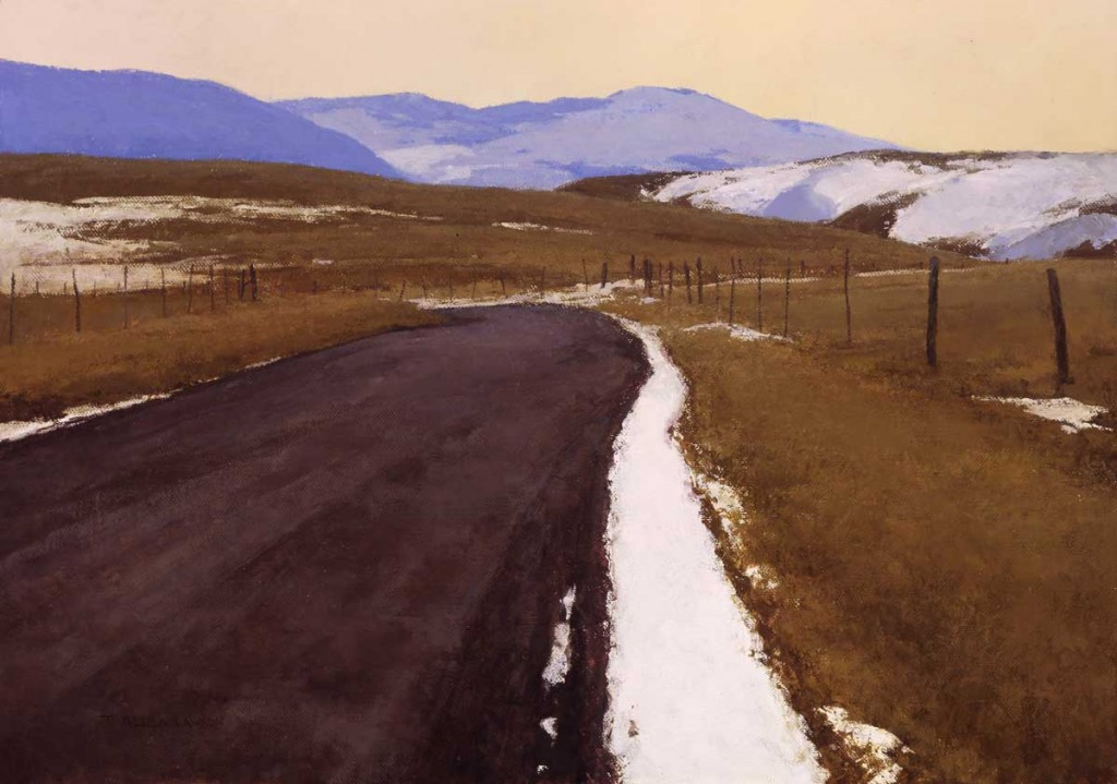 """End of Winter"" oil on linen, 24 x 34 in., 2007"