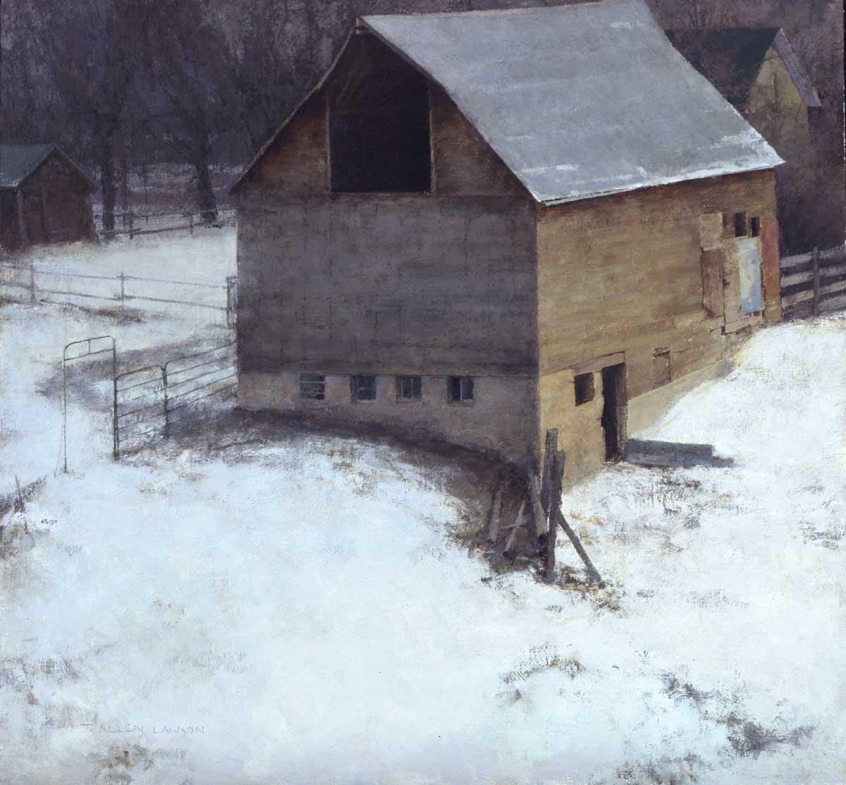 """""""Hibernation"""" oil on linen, 26 x 28 in., 2009"""