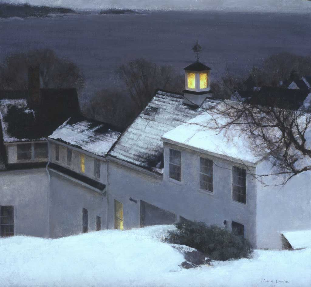 """Rockport Roofline"" oil on linen, 24 x 26 in., 2004"
