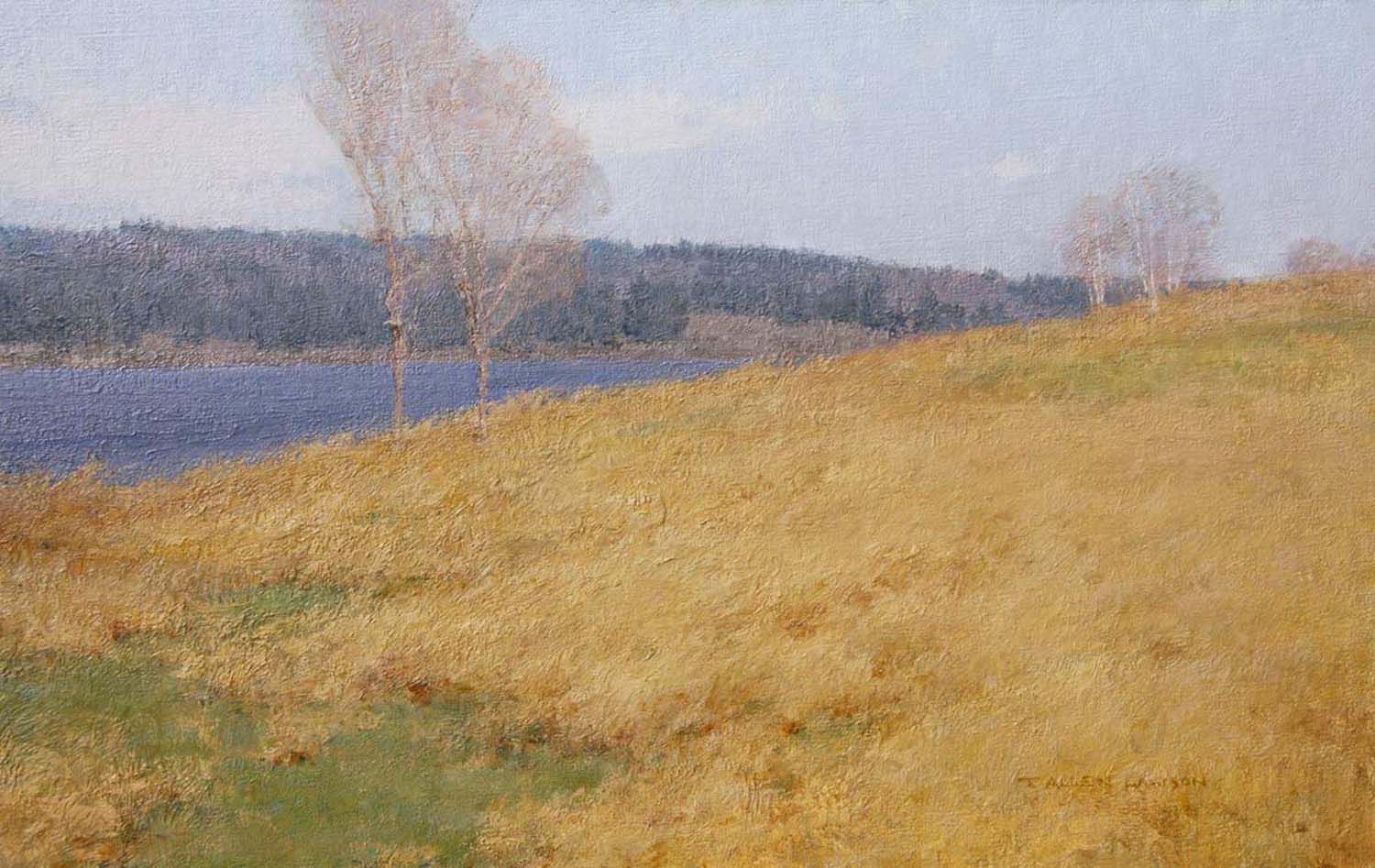 Spring at Stones Point, oil on linen, 14 x 22 in.