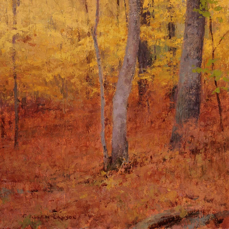Autumn Interior, oil on linen, 10 x 10 in.