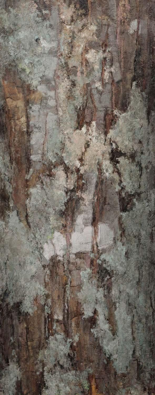 Red Oak, oil on linen, 30 x 12 in.