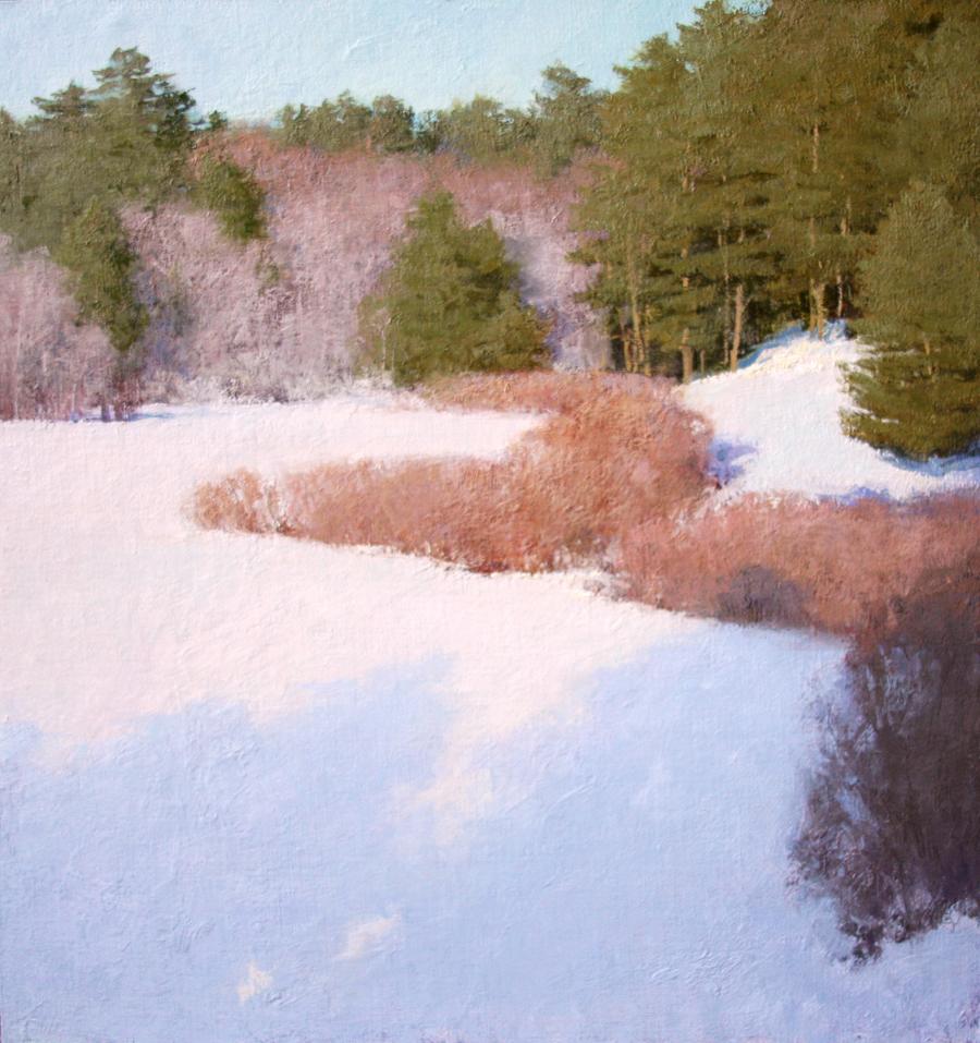 January's Palette, oil on linen, 21 x 20 in.