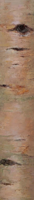 Birch, oil on linen, 30 x 5.25 in.