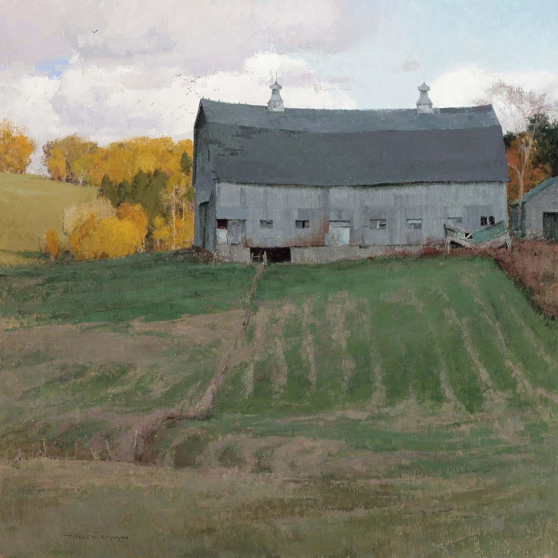 Harvest House, oil on linen 26 x 26 in.
