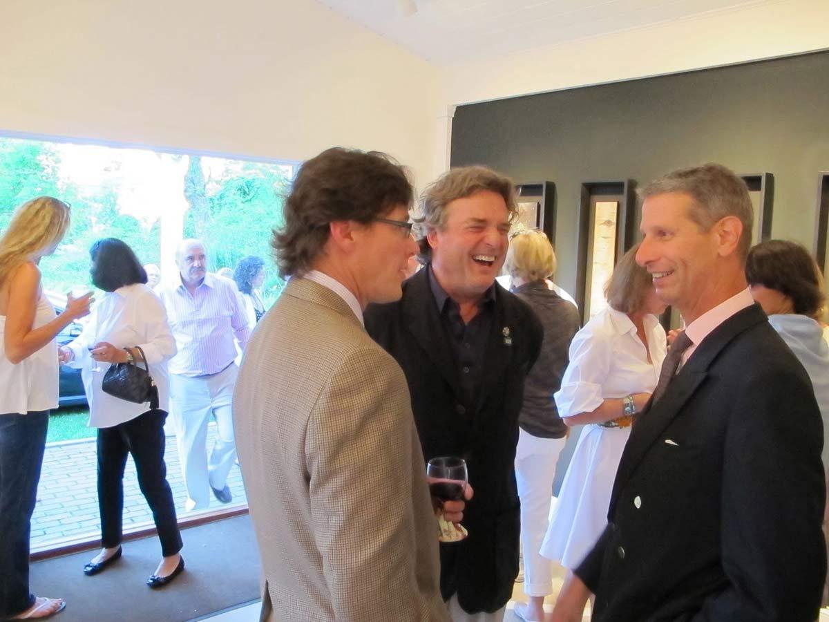Tim Lawson with Jamie Wyeth and Jeffrey Schlesinger