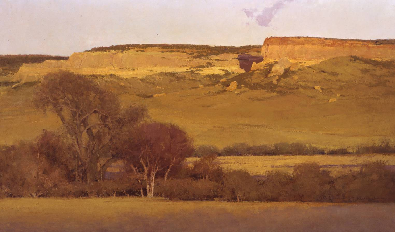 Chugwater, oil on linen, 24 x 40 in.