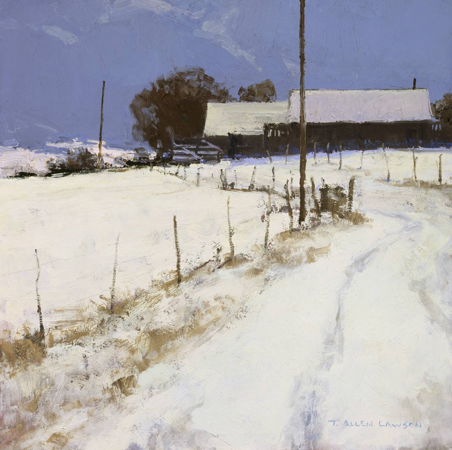 Winter Palette, oil on panel, 12 x 12 in.