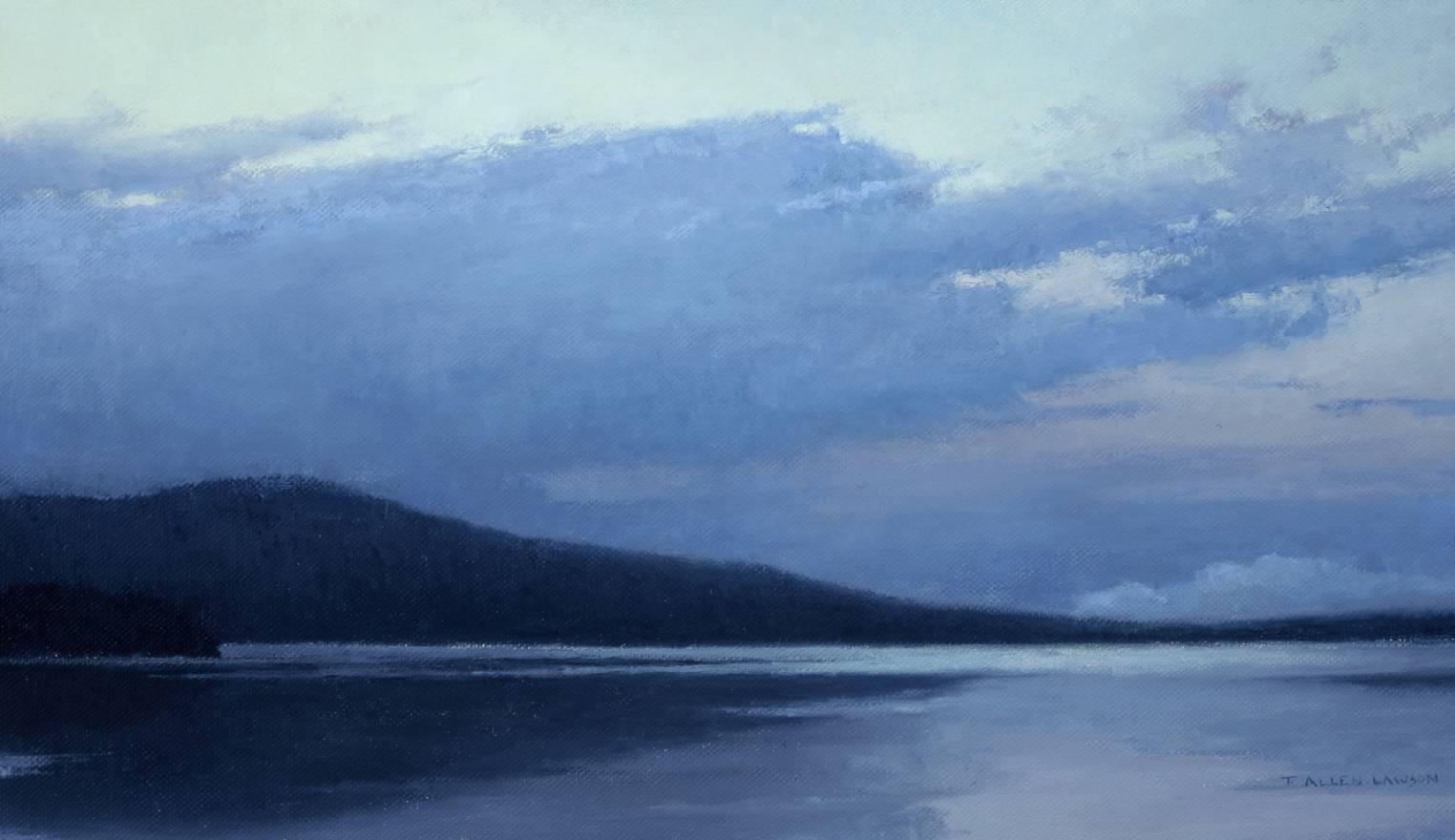Evening on Katahdin Lake, oil on linen, 16 x 28 in.