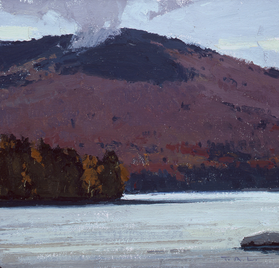South Turner Tapestry, oil on linen, 8 x 8.5 in.