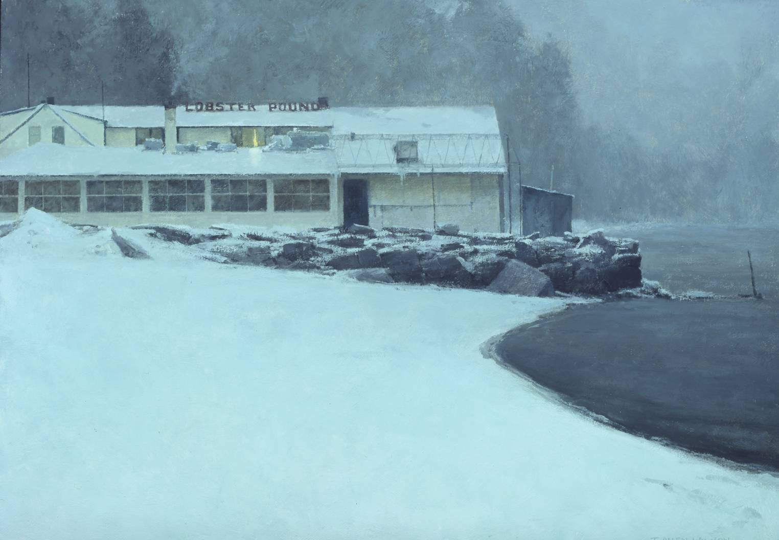 The Lobster Pound, oil on linen, 24 x 34 in.