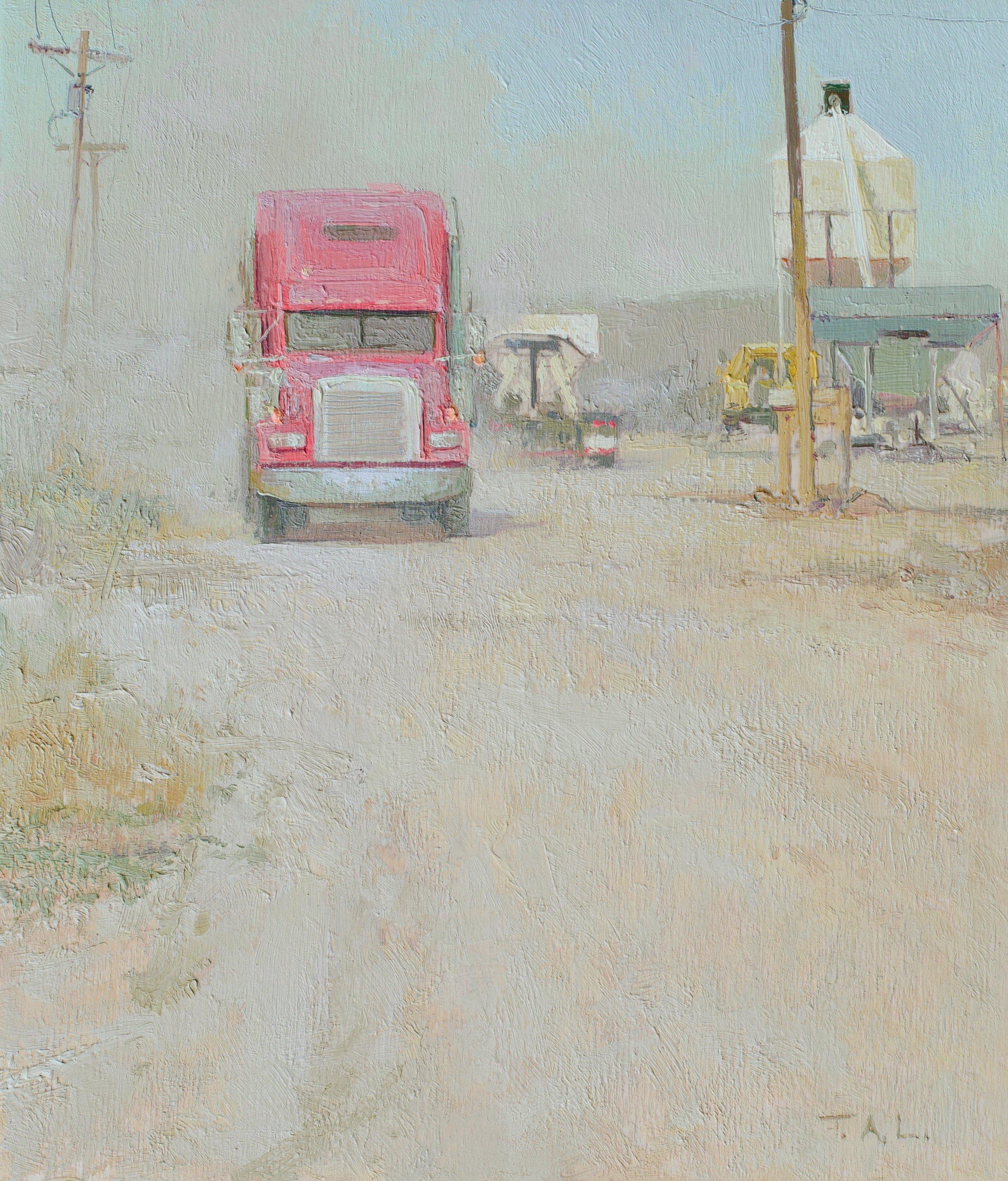 Peterbilt, oil on panel, 10.5 x 9 in.
