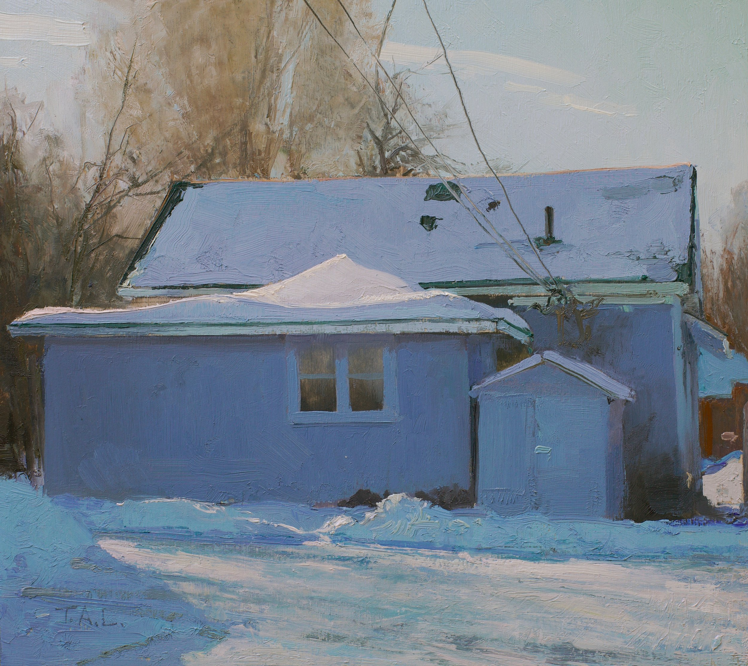 Cold Storage, oil on panel, 9 x 10 in.