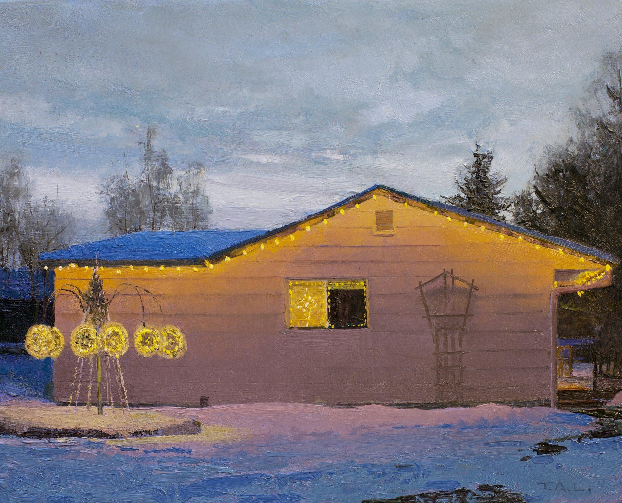 Winter Solstice, oil on panel, 8.5 x 10.5 in.