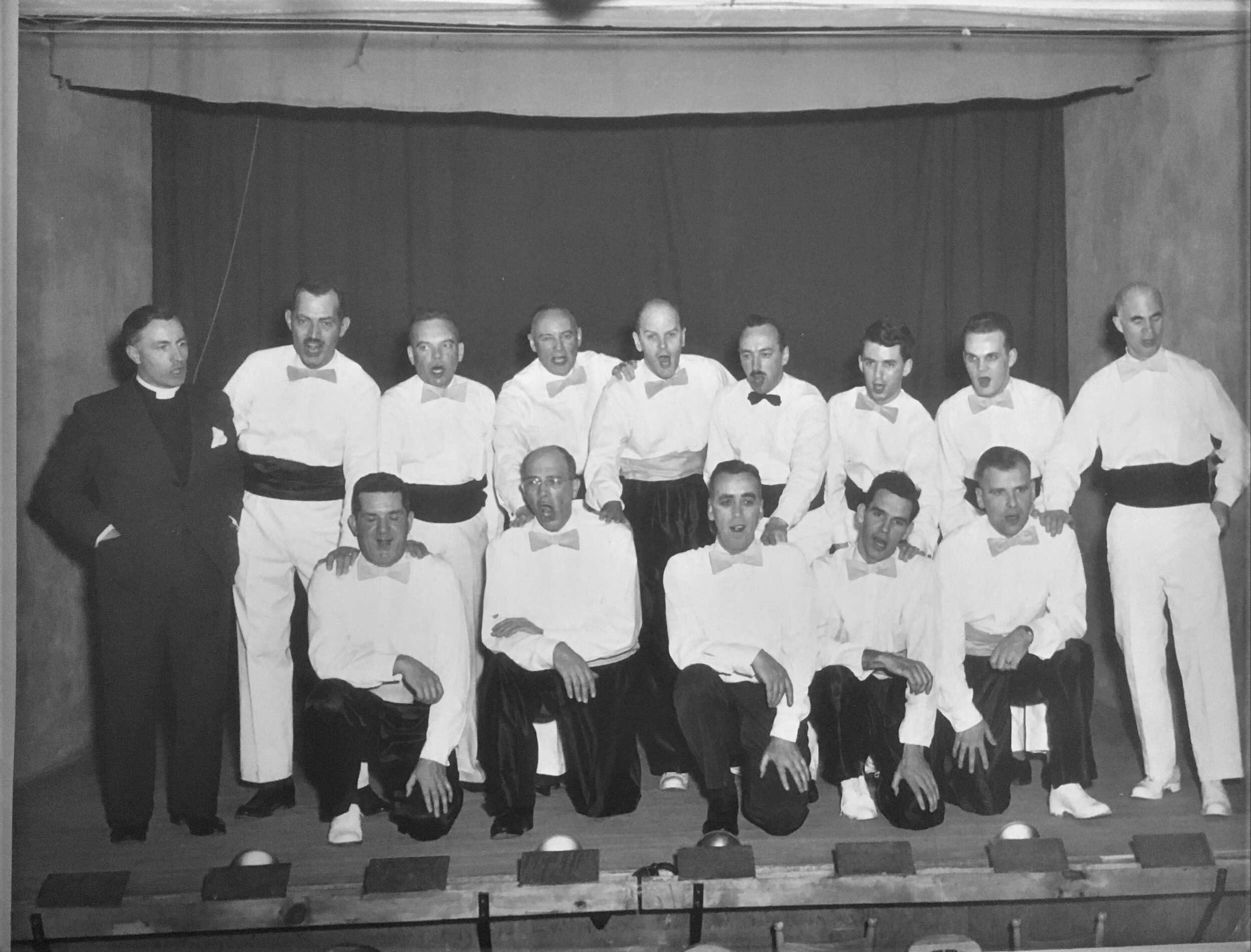 3. This photo is labelled Men's Club Choir, 1954. Not sure where it was taken, but that's Rev. A.E. Jones at the extreme left. He would be called as Minister to Crawford Park from 1955-1957, and then on to Verdun United from 1957-1975.