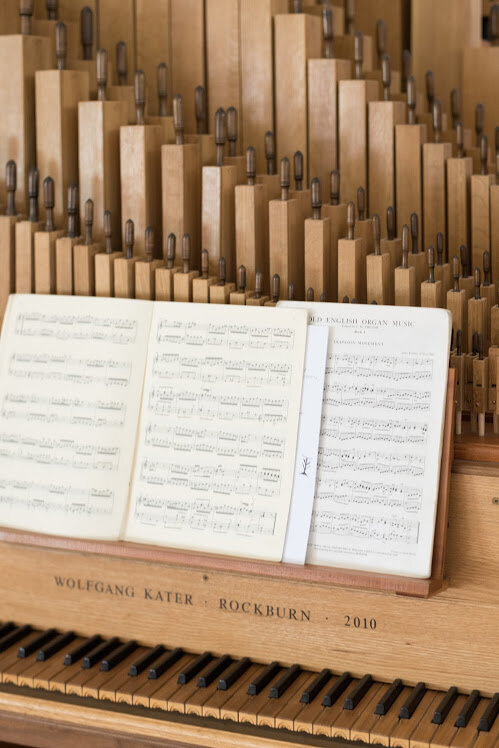 2. Detail of the wooden pipe organ, hand-crafted by Wolf Kater, at SouthWest United Church. Photo: M. Lipscombe