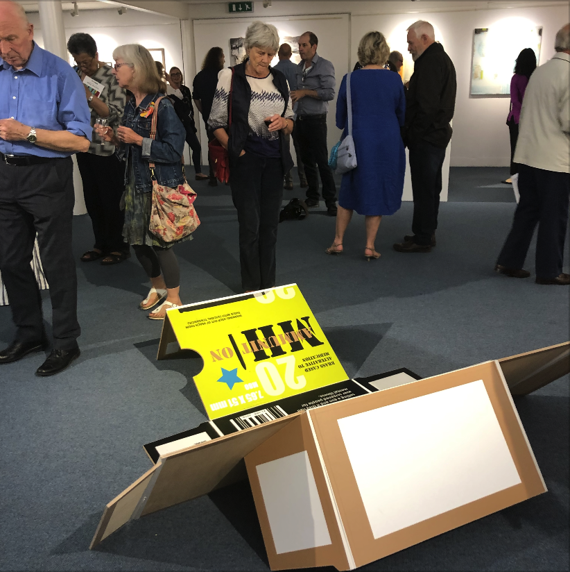 Private view night - Ammunition at Atkinson Gallery Summer Show 2019
