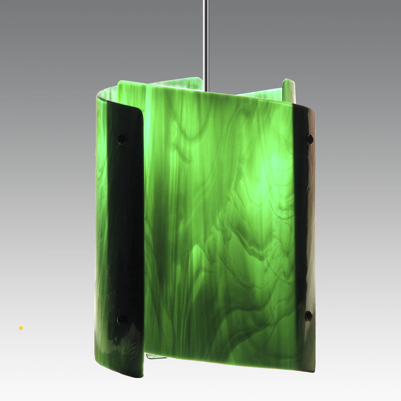 P6 Mini Sushi emerald green glass