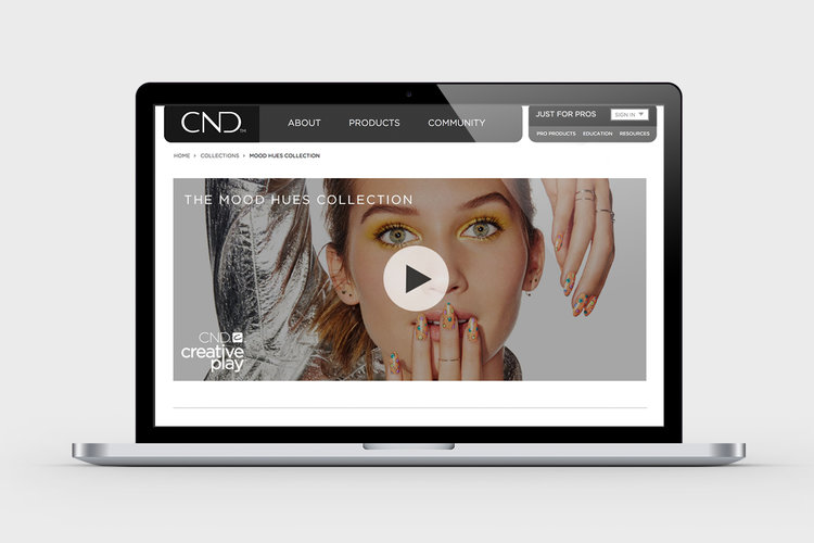 CND Website Mood Hues Collection Page