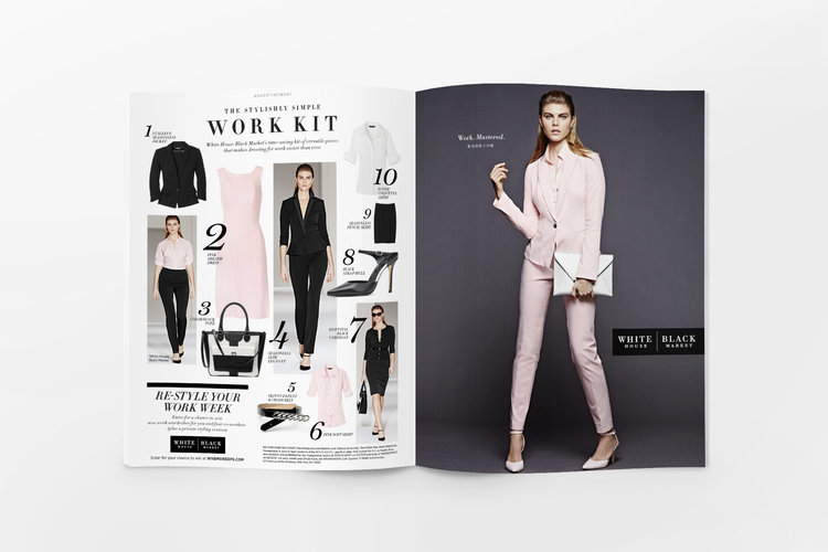 Ad and Advertorial Glamour Magazine