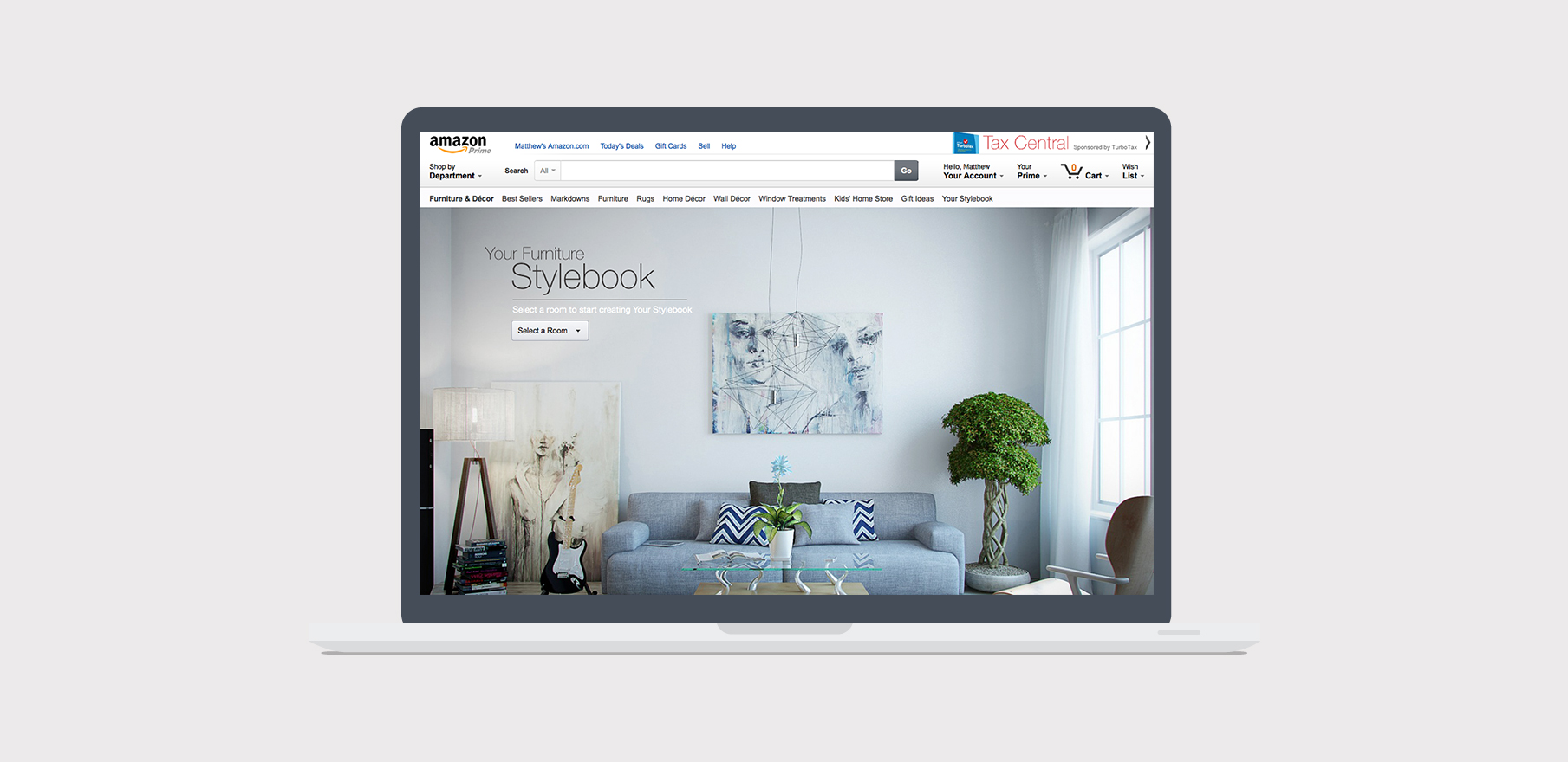furniture style book - Creating a furniture shopping experience based on style preferences and recommendations.