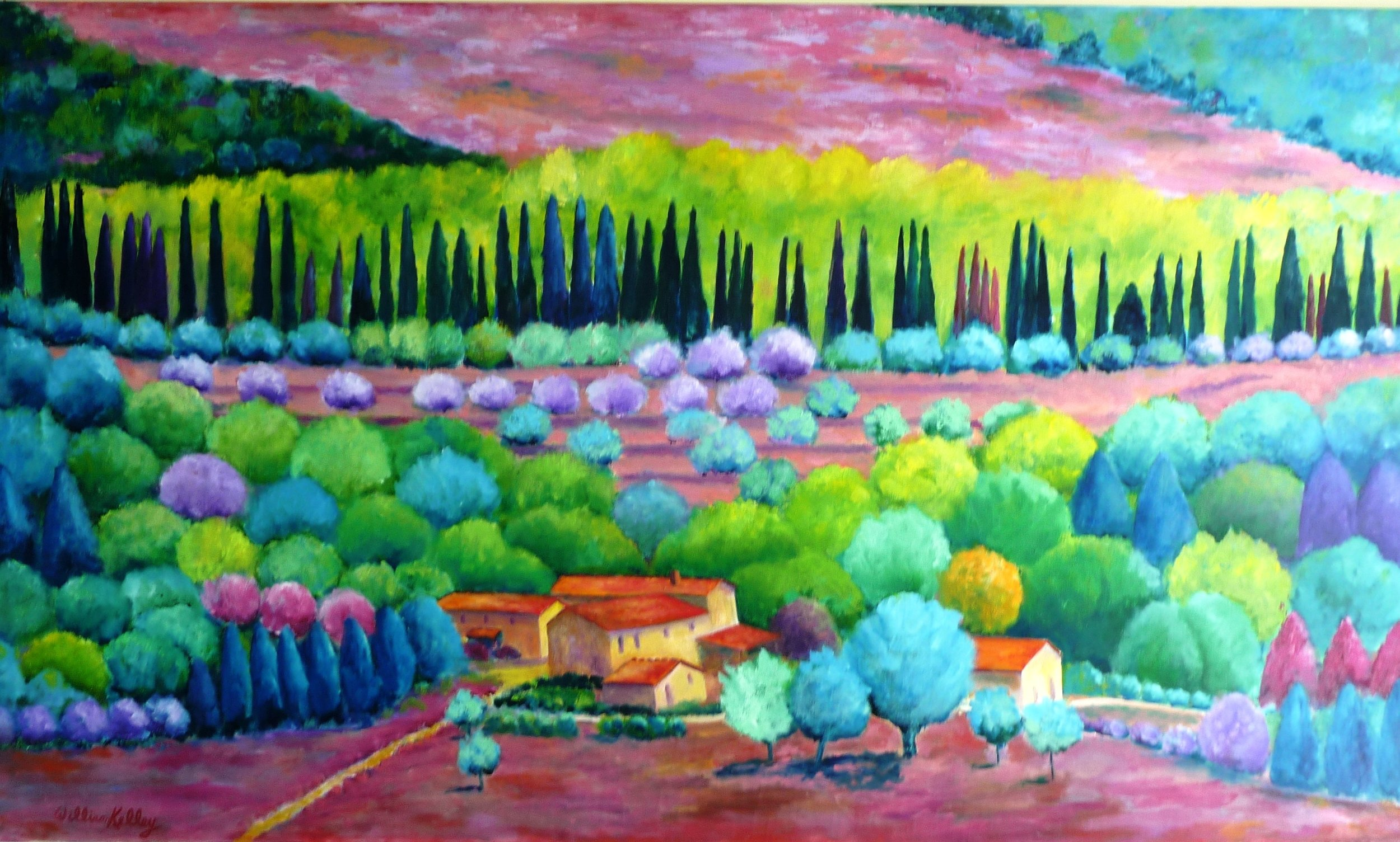 Monteriggioni - Sarasota Herald Tribune - Painter William Kelley's quest for beauty. The Tribune interviewed William after his accident and his work with the Sarasota Art Society and Florida Winefest. To read the full Tribune article click the image to the left or Click Here.