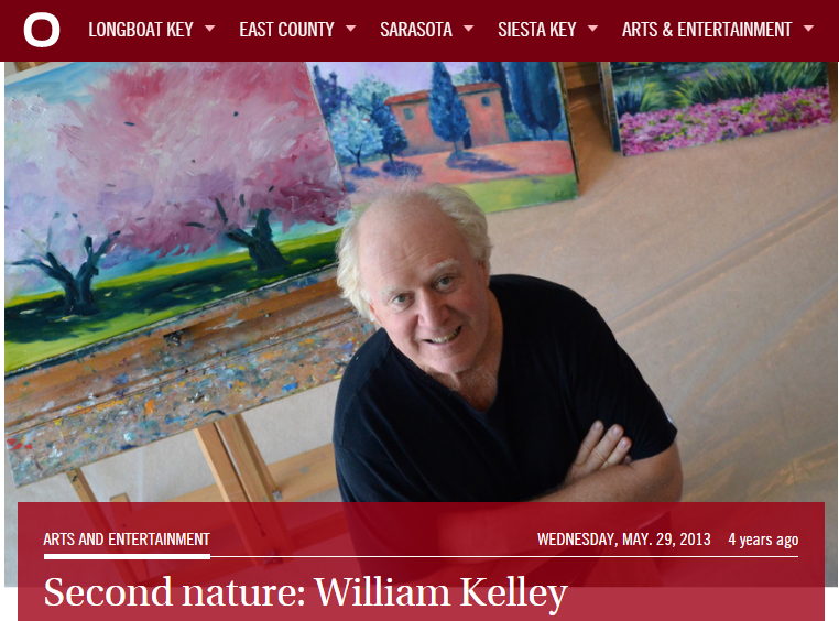 Siesta Key - Click the image to read Mallory Gnaegy's interview with William for YourObserver.com