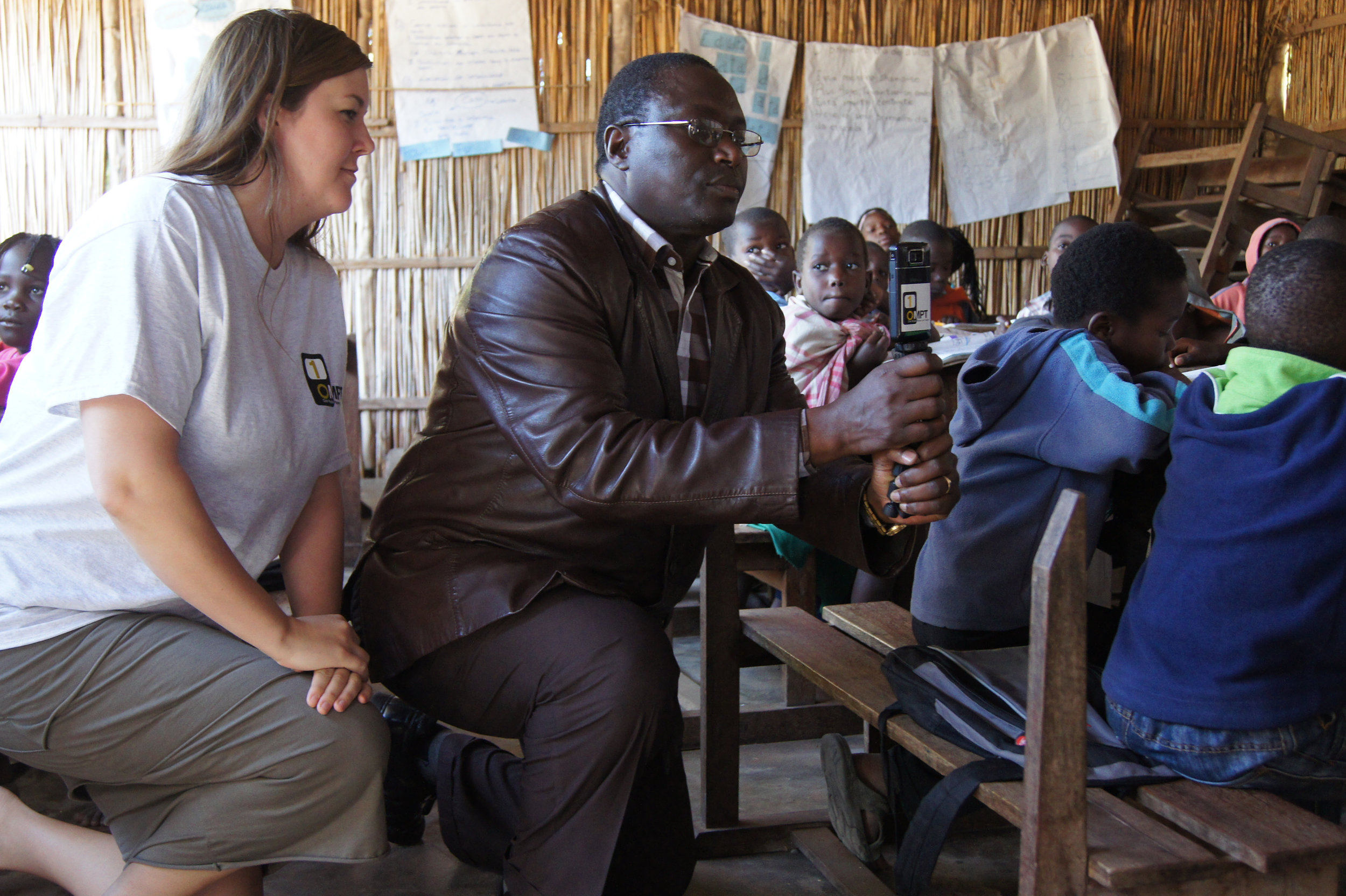 OMPT helped train educators in Mozambique on the use of cameras and projectors in education.