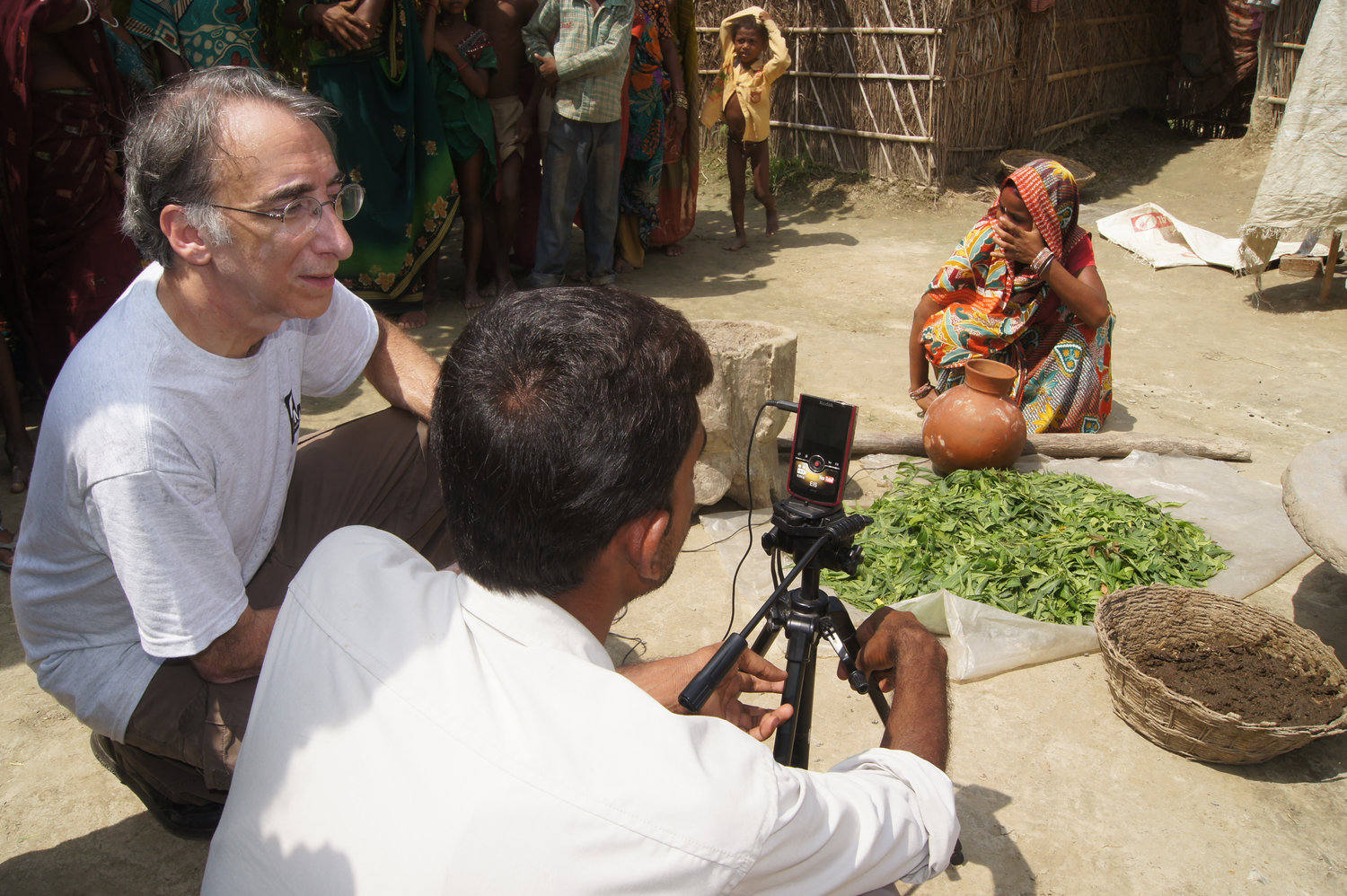 OMPT collaborated with Digital Green in India to create videos to improve local farming techniques.