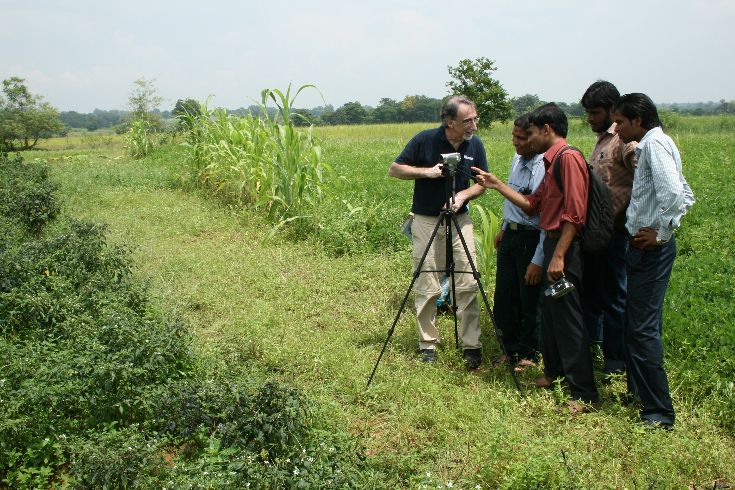 Working with Digital Green in India on sustainable farming techniques.