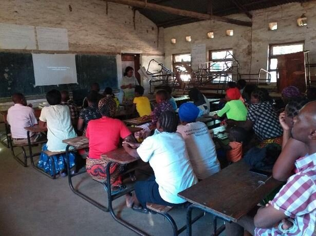 Video screening session at Ngolowindo primary school in TA Maganga