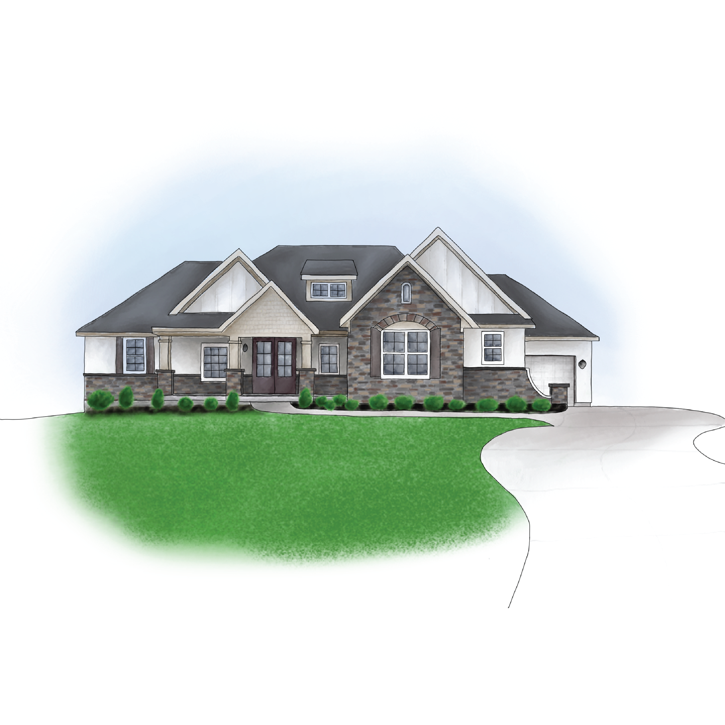 Custom home illustrations - click to see a gallery of home illustrations