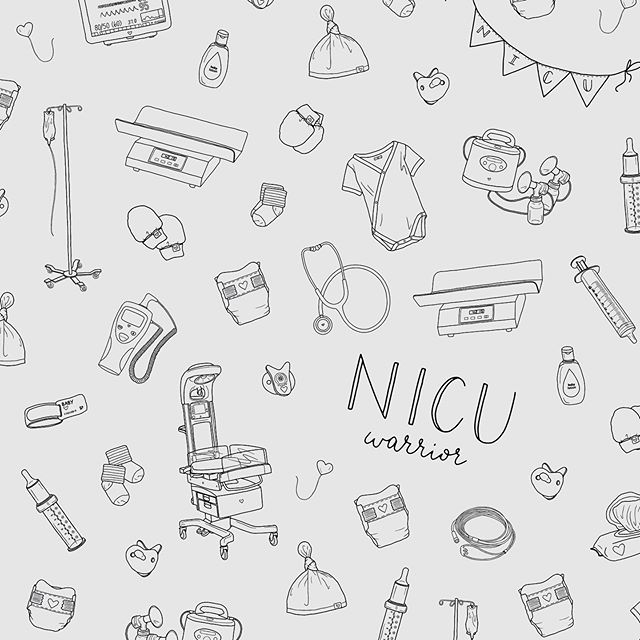 "September is NICU awareness month! 👶🏼 . I created this pattern inspired by some of the things I'm used to seeing everyday in the NICU. . Spending countless hours in the NICU with Rowan has opened my eyes to a whole new world of medications, doctor visits, surgeries and procedures, regular temperature and blood pressure checks, stressful situations and playful times, emotional days and moments of happiness, feeling so lonely yet also feeling ""at home"". . These little babies are fighters and go through more than anyone can imagine. Yet I still see smiles on their faces, I still hear them cooing and squirming playfully in their beds. This is all they've ever known, but they handle everything with beauty and strength. . And the nurses? Most people don't really know how important you are to the families in the NICU. But I do. I see you, day in and day out, caring for my baby as if he were your own, cuddling with him when I'm not there, fighting for him and giving him more strength than he already has. I'll never be able to thank you enough for giving him your hard work, hours of care, and endless amounts of love to help him get through this journey. . Our journey is far from over, but our journey in the NICU soon will be. I'm honestly feeling all of the emotions right now! Excitement to be taking another step towards going home and fear of not being in the familiarity and safeness of the NICU with our regular nurses and doctors that we see every day. I feel like I'm leaving our ""home"". But glad we can make more space for other babies and families to have a temporary home in an amazing place. . Go love on your NICU friends today! 💙"