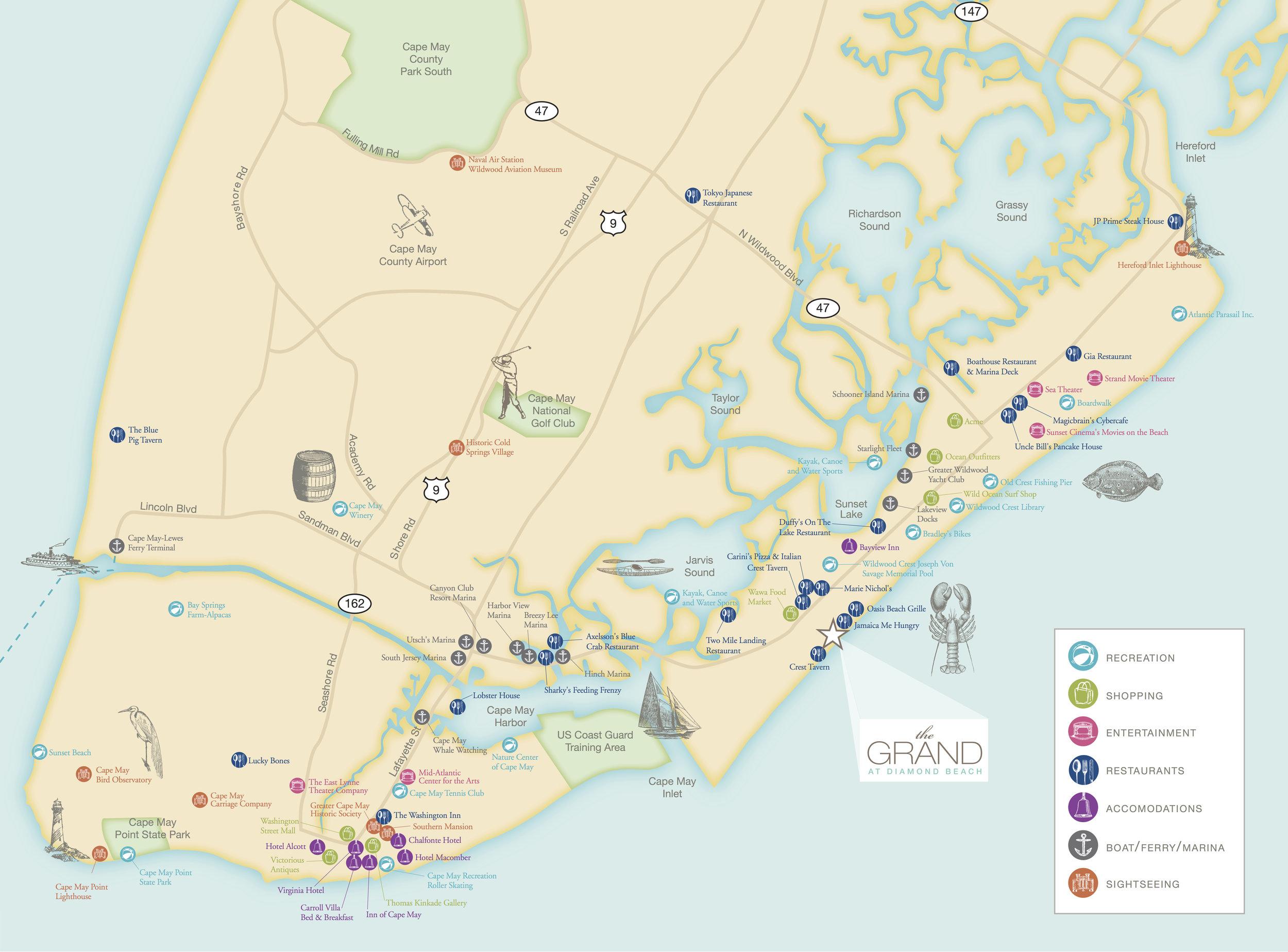 grand at diamond beach map