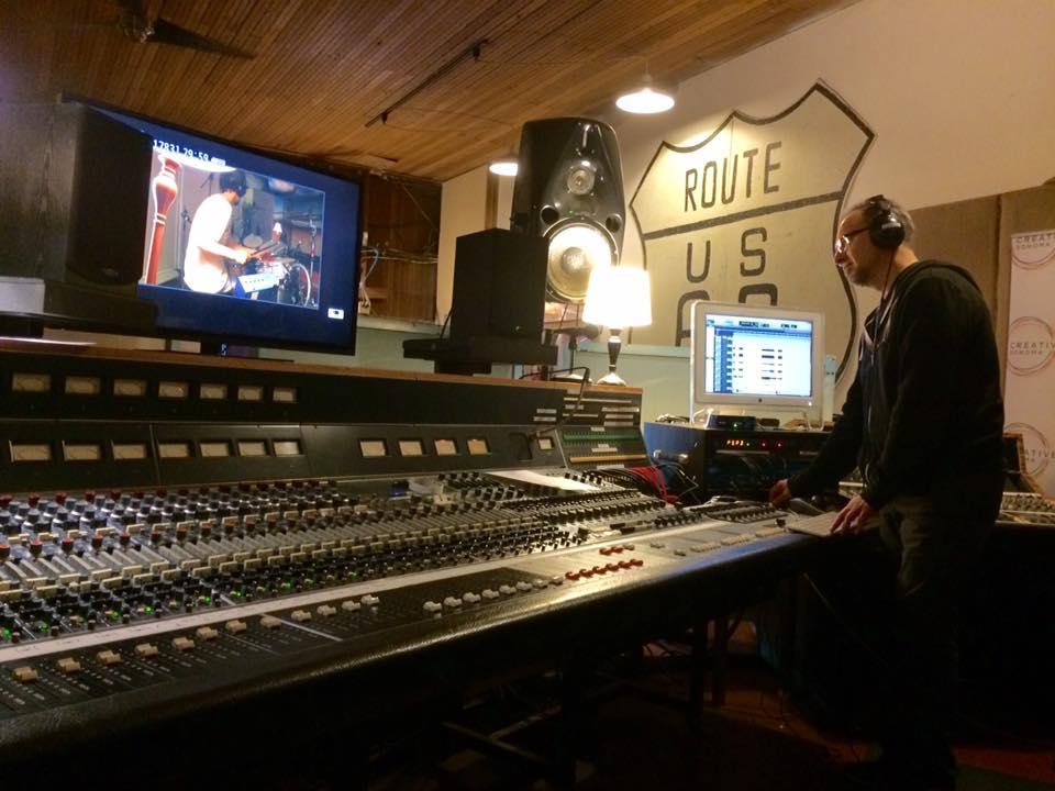 Glen Lorbecki during recording.jpg