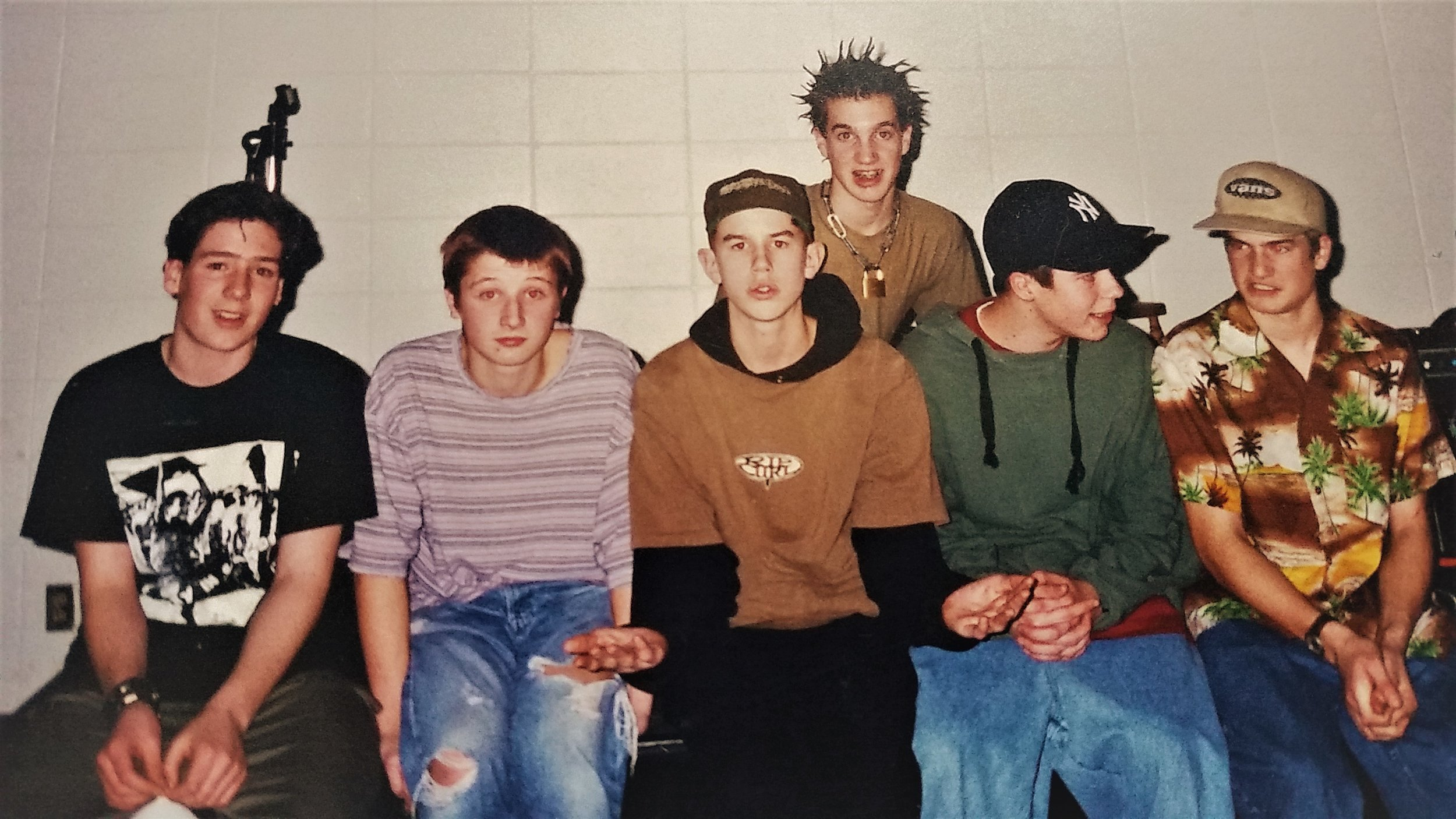 Ty Hall and friends, circa 1995