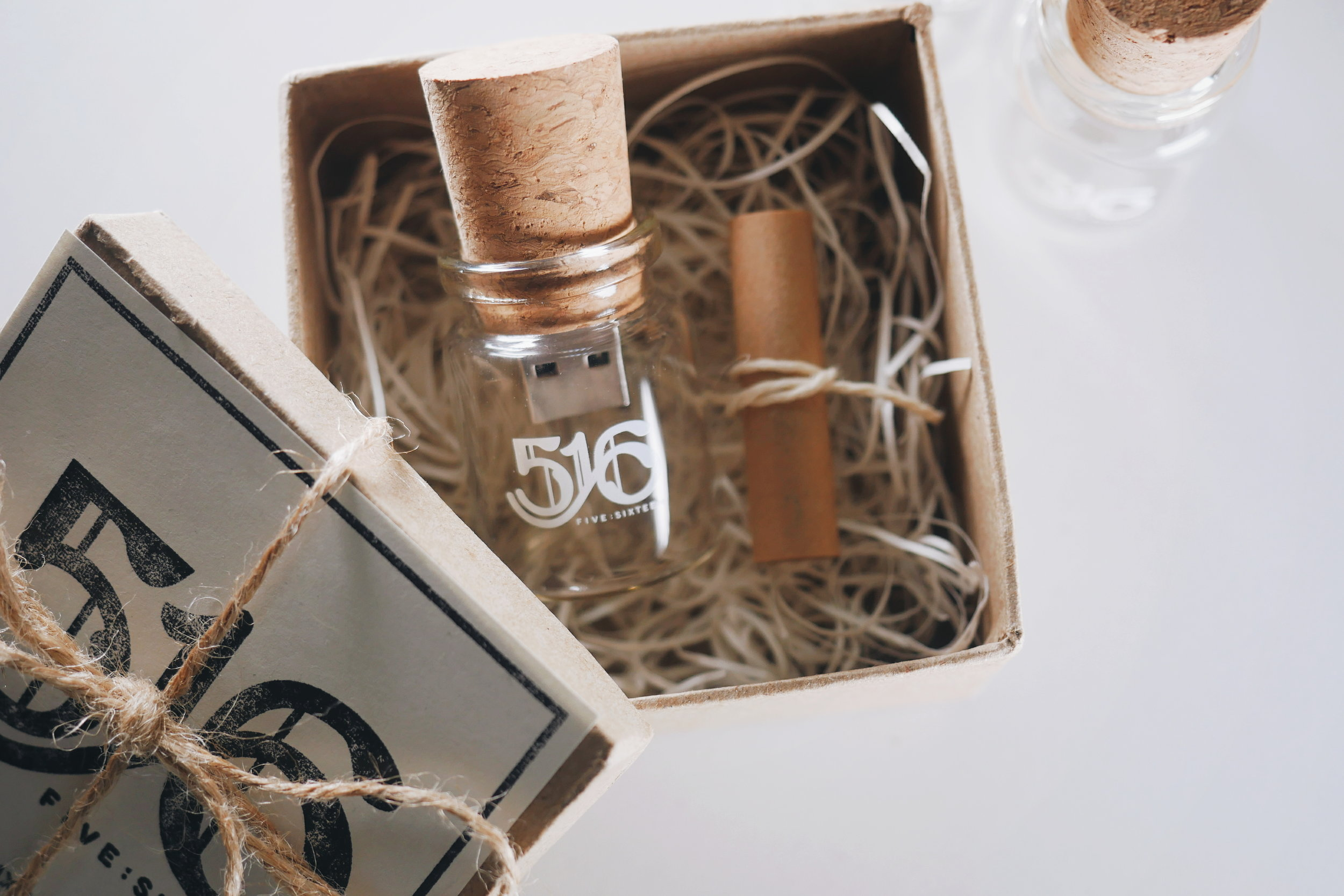 Digital Meets DIY - All Five Sixteen Wedding gift boxes are individually stamped and packaged by hand. Just because your product is digital doesn't mean the experience has to be :)