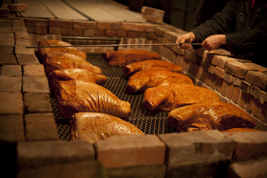 Myron Mixon pit BBQ pork