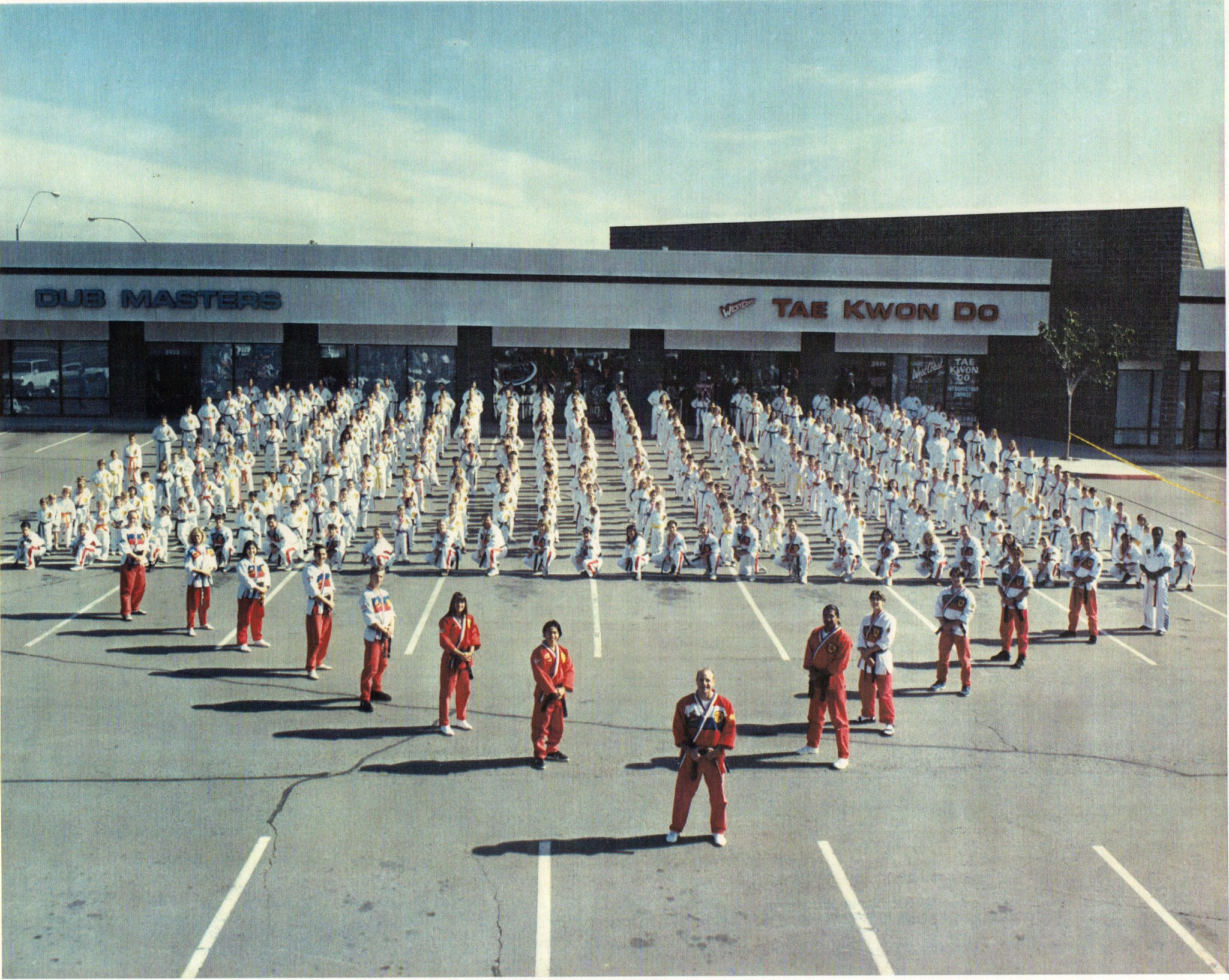 Some of our 800 students, active weekly, when we ran Ernie Reyes West Coast Martial Arts in Reno, NV, Circa 1993.