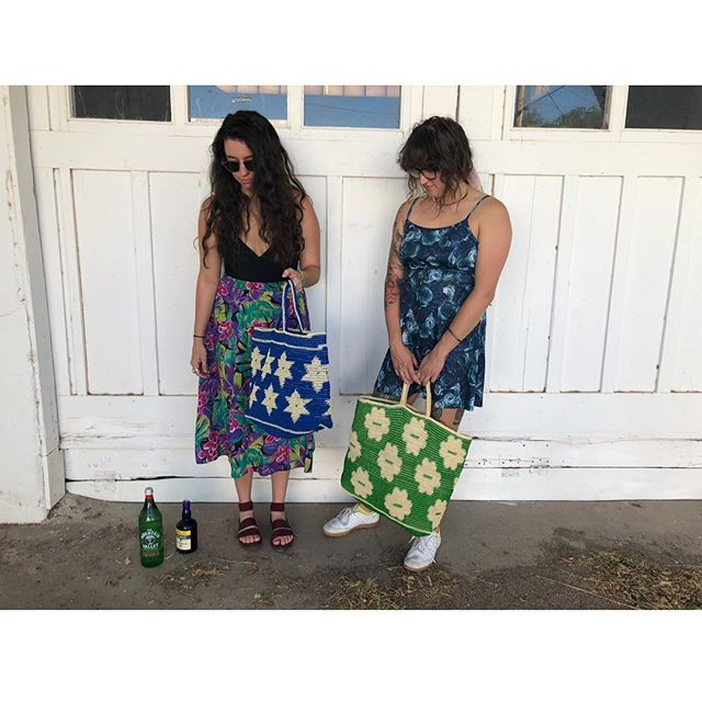 My littles with their Indian bags that I trekked all over a market to find✨