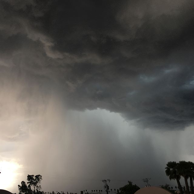 The view from our roof during last weeks crazy monsoon!