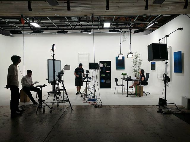 Filming today in our fake office! . . . #studio#film#photography#production#cyc#studiolife#stage#az #equipmentrental