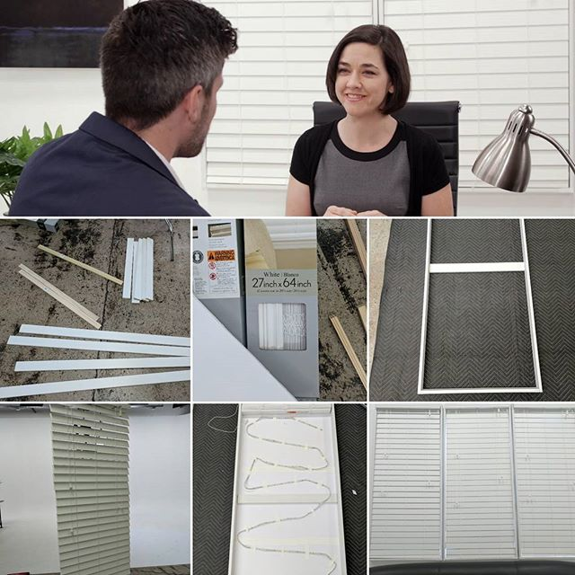 Built some fake windows to make our studio cyc look like an office! . . .#studio#film#photography#production#cyc#studiolife#stage#az #equipmentrental #diy #fakewindows