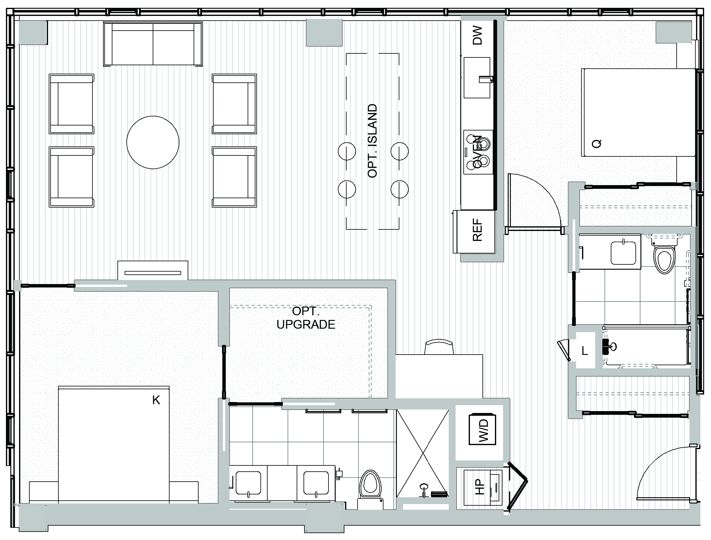 2 bedroom condos in Seattle - Koda Condominiums