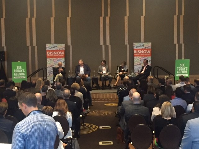 """The """"Future of Downtown"""" panel takes the stage (from left: Matt Griffin, Steve Banfield, Kristin Ryan and Rob Schwartz)."""